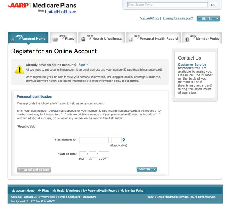 member.aarpmedicareplans.com - How To Register For AARP ...