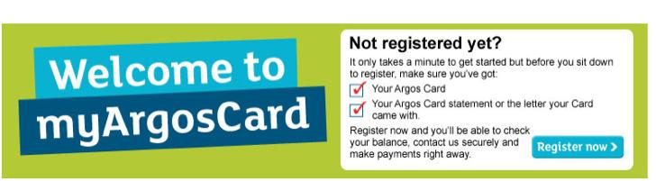 manage an argos card online