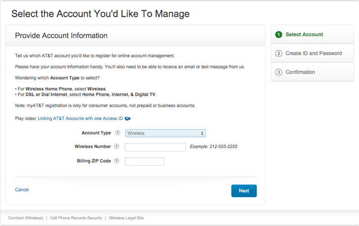 manage an at&t wireless account online