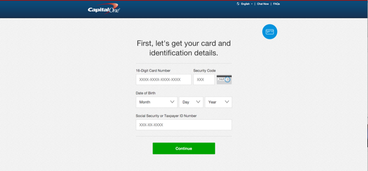 activate your new capital one card