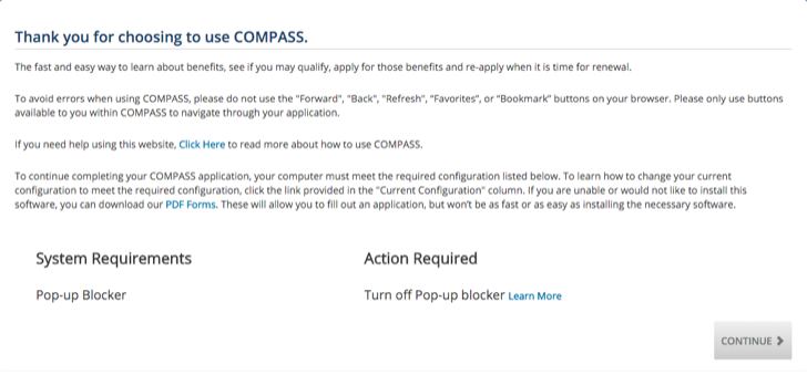 apply for benefits via pennsylvania compass