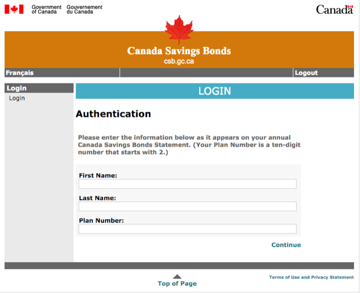 manage your Canada savings bonds online