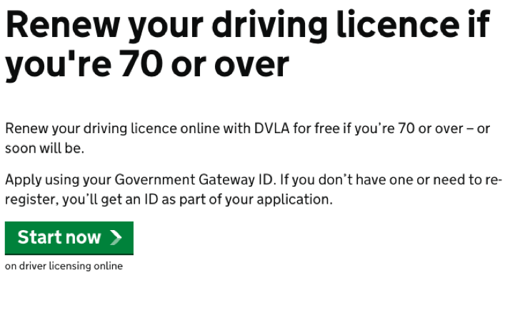 www.gov.uk/renew-driving-licence-at-70 - How To Renew