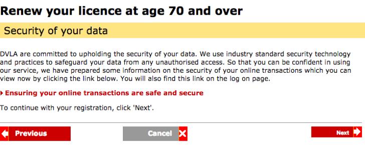 www gov uk renew licence at 70