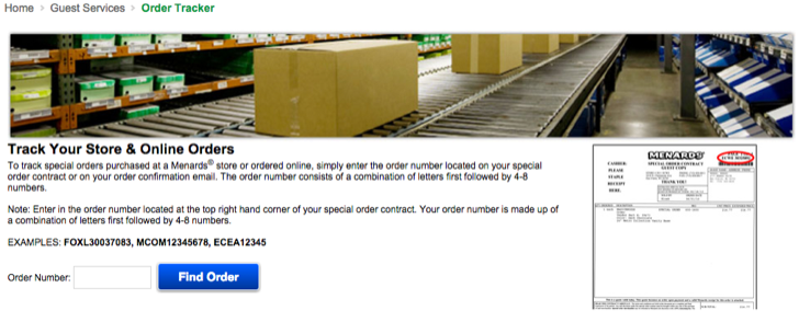 track your menards order online