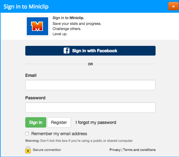 miniclip account for free