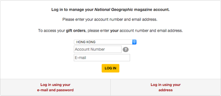 renew your subscription for National Geographic magazine