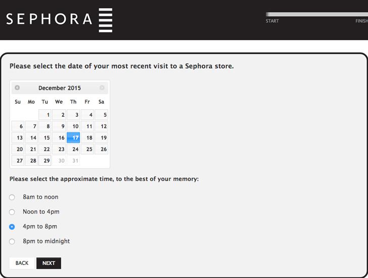 sephora customer satisfaction survey