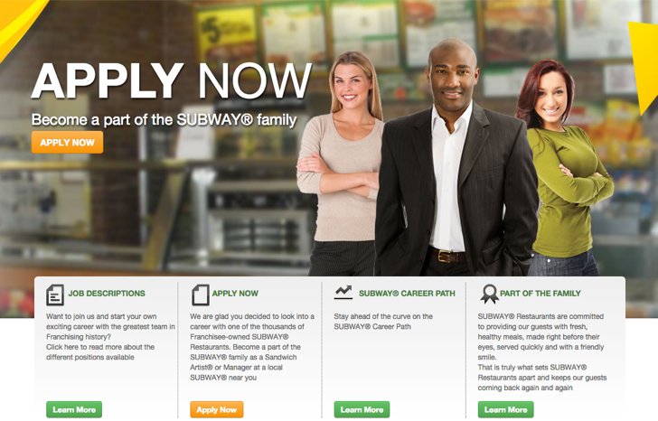 subway online job application system
