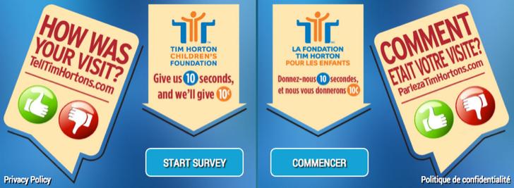 tim hortons guest survey