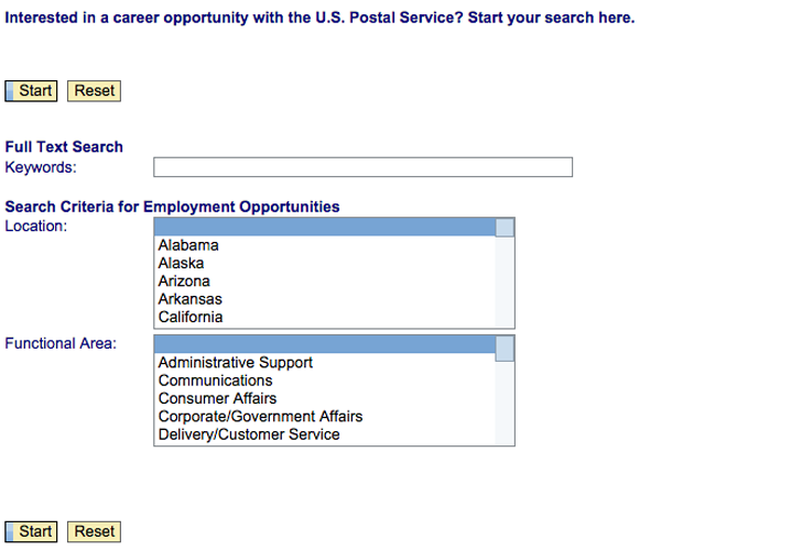 USPS job