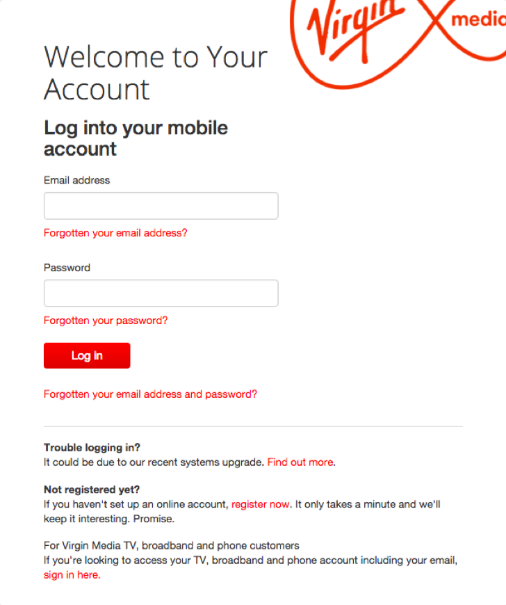 Virgin media email addresses