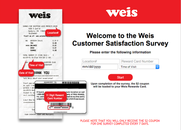 take part in the Weis customer satisfaction survey