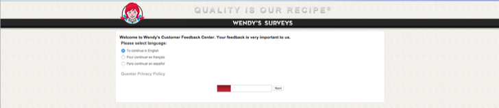 take part in the Wendy's customer satisfaction survey