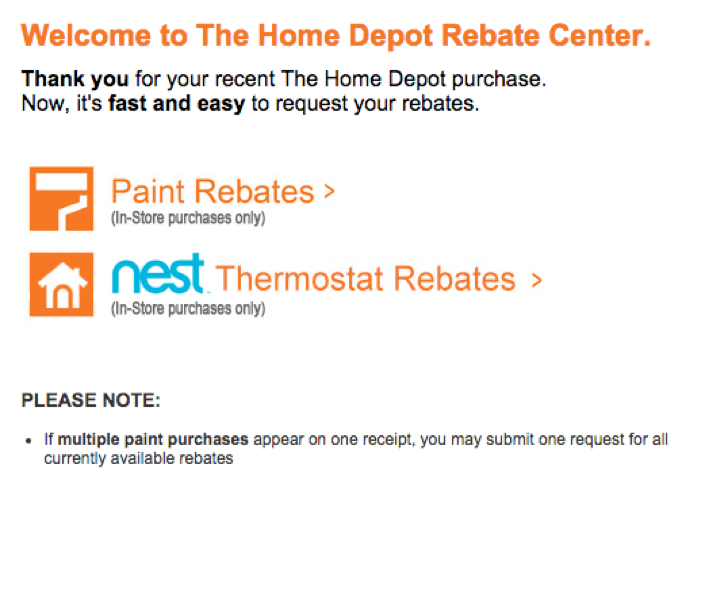 home depot rebates www homedepotrebates how to submit a rebate at home 987